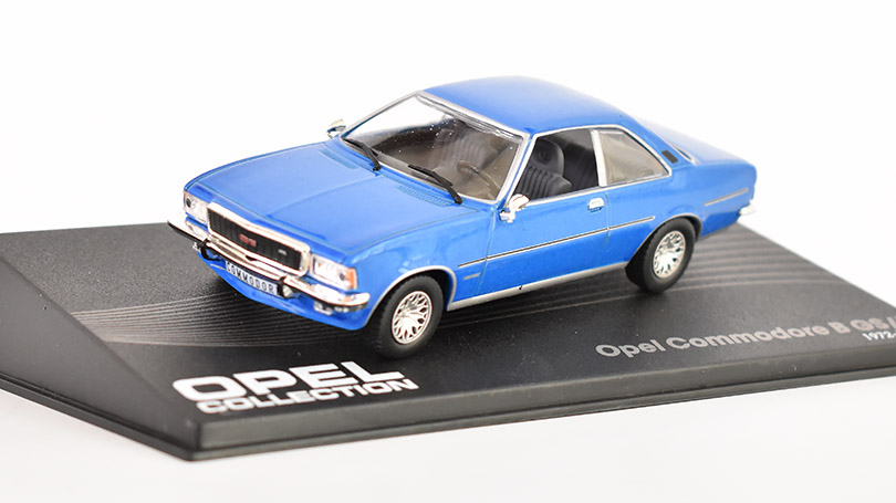 Opel Commodore B 1972 1:43 Opel collection časopis s modelem