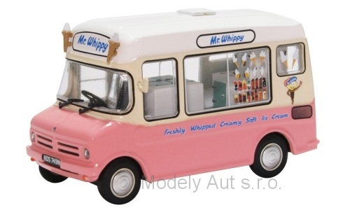 Bedford CF Ice Cream Van 1:43 - Oxford časopis s modelem