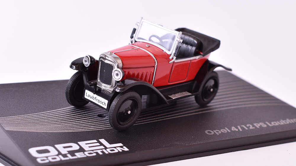 Opel 4/12 PS Laubfrosch 1:43 Opel collection časopis s modelem