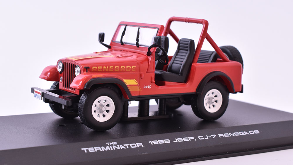 Jeep CJ-7 Sarah Conner 1983 The Terminator 1:43 GreenLight časopis s modelem