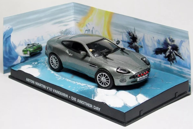 Aston Martin V12 Vanquish James Bond 1:43 časopis AutoModels s modelem