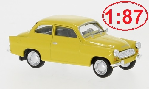 Škoda Octavia, light yellow - 1960 1:87 - BREKINA