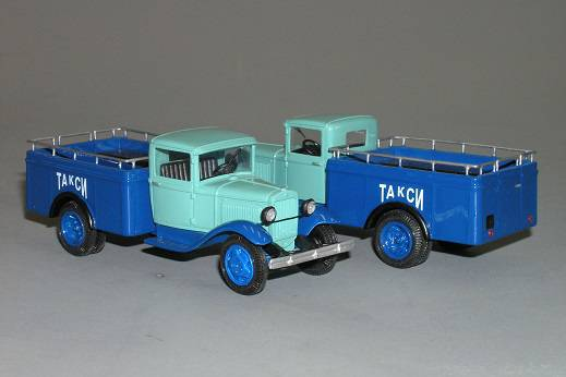 GAZ - AA pick-up taxi - Vector models