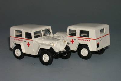 GAZ 67-420 sanitka - Vector-models