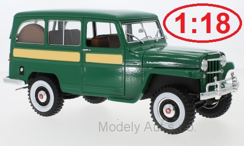 Jeep Willys Station Wagon - 1955 1:18 - Lucky Die Cast časopis s modelem