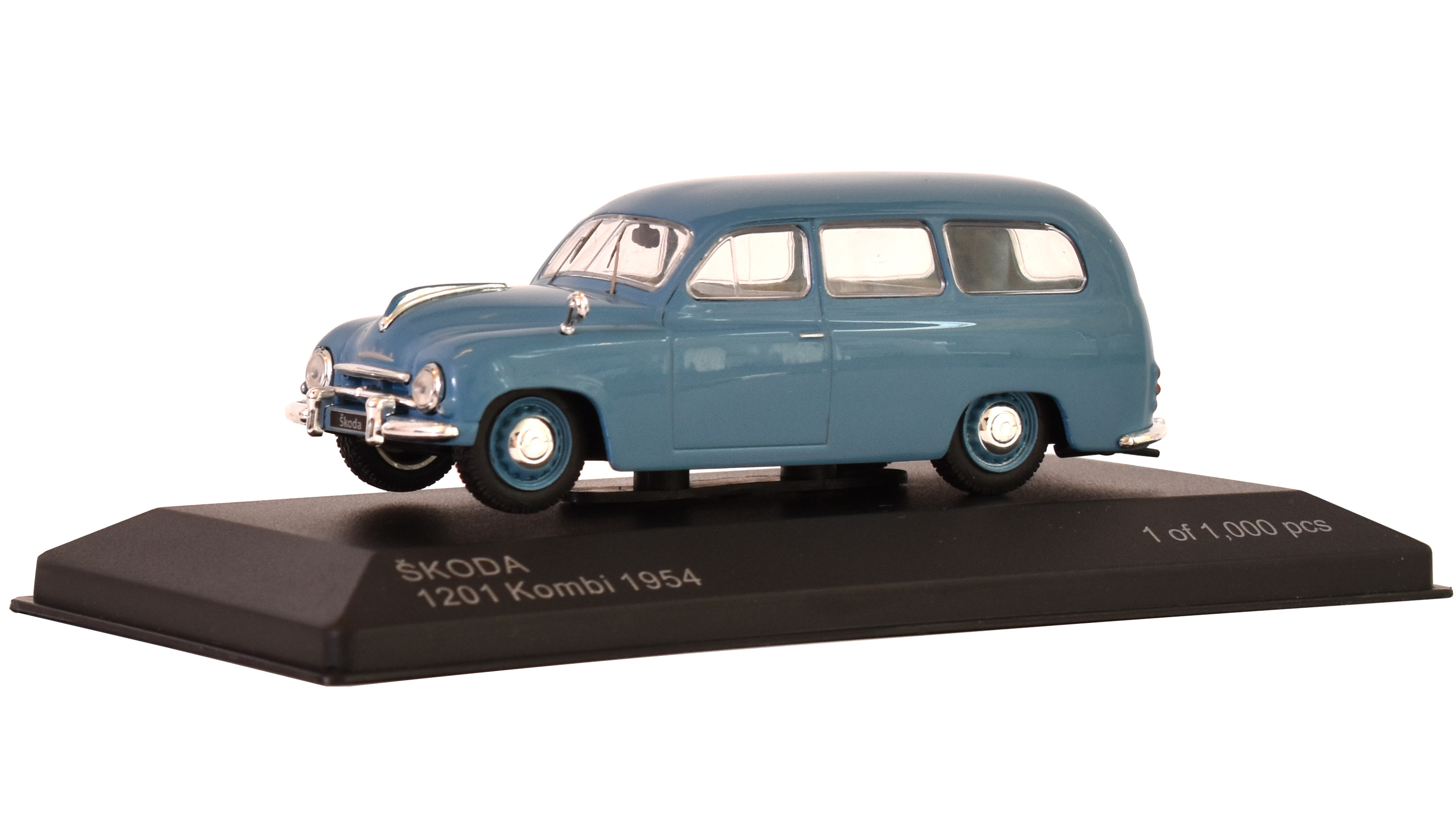 Škoda 1201 Kombi, 1954 1:43 - WhiteBox časopis AutoModels s modelem