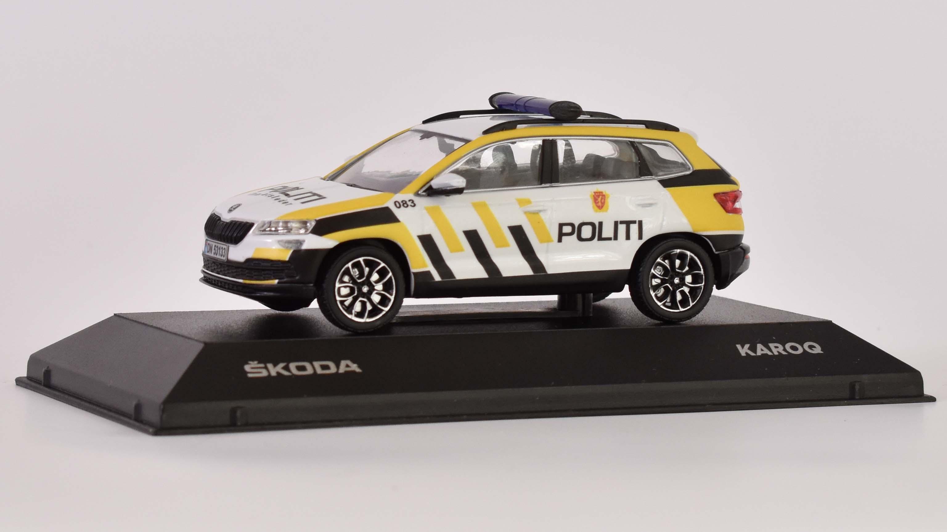 962fa5f991ac0 Škoda Karoq - Policie Norsko 1:43 časopis AutoModels s modelem
