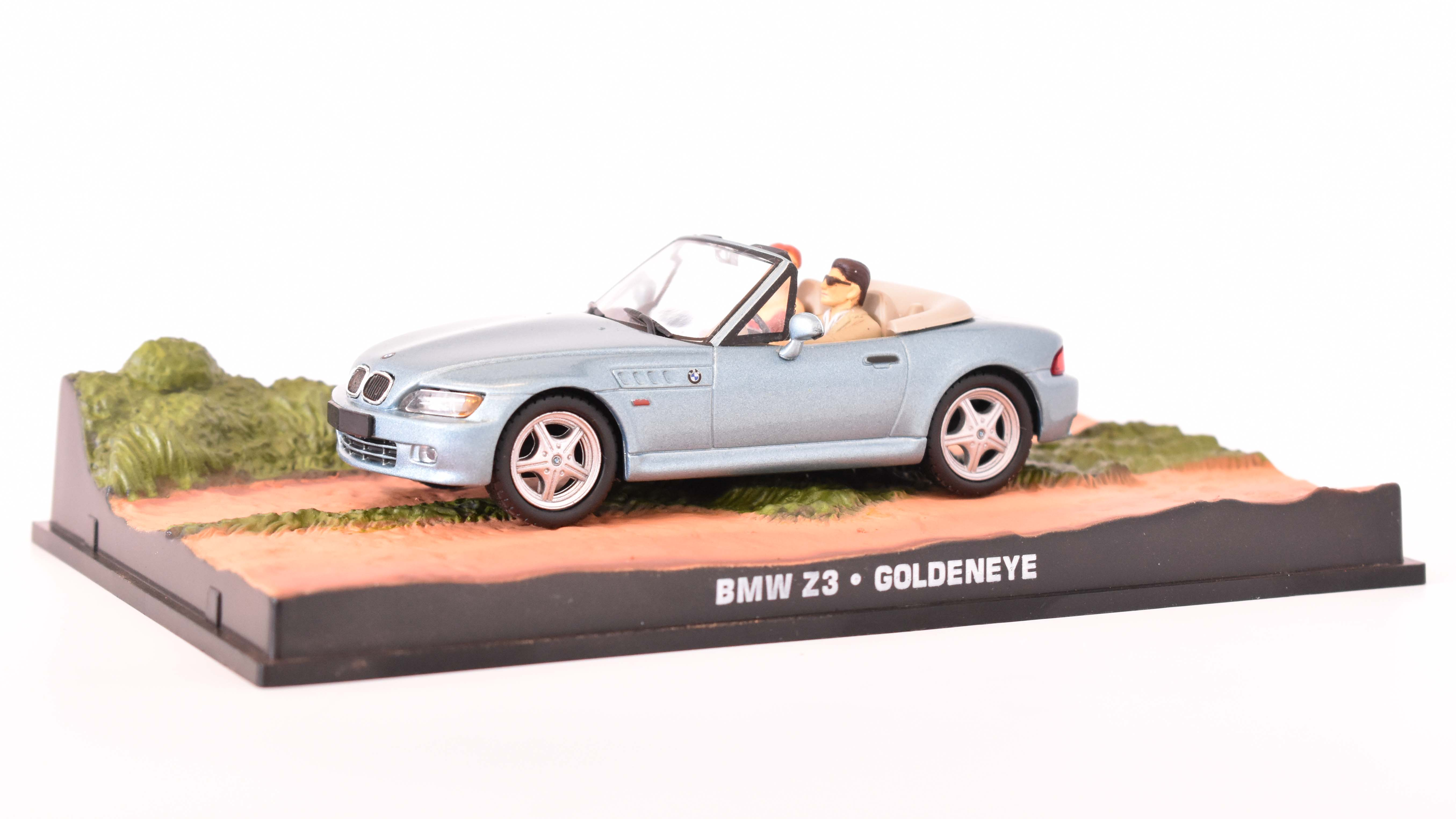 BMW Z3 Spider 1999 James Bond GoldenEye 1:43 časopis AutoModels s modelem