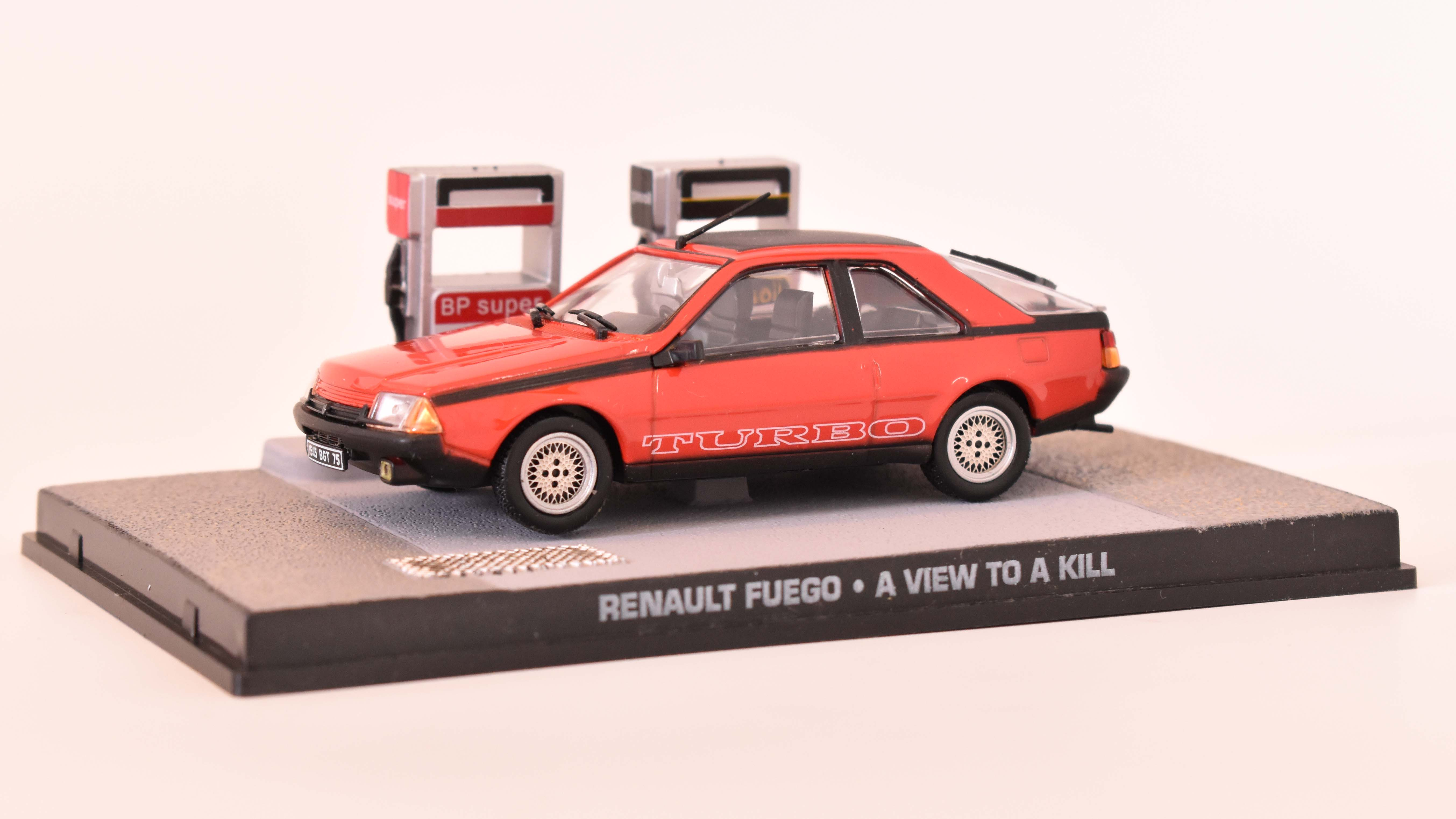 Renault Fuego Coupe 1981 James Bond  1:43 časopis AutoModels s modelem