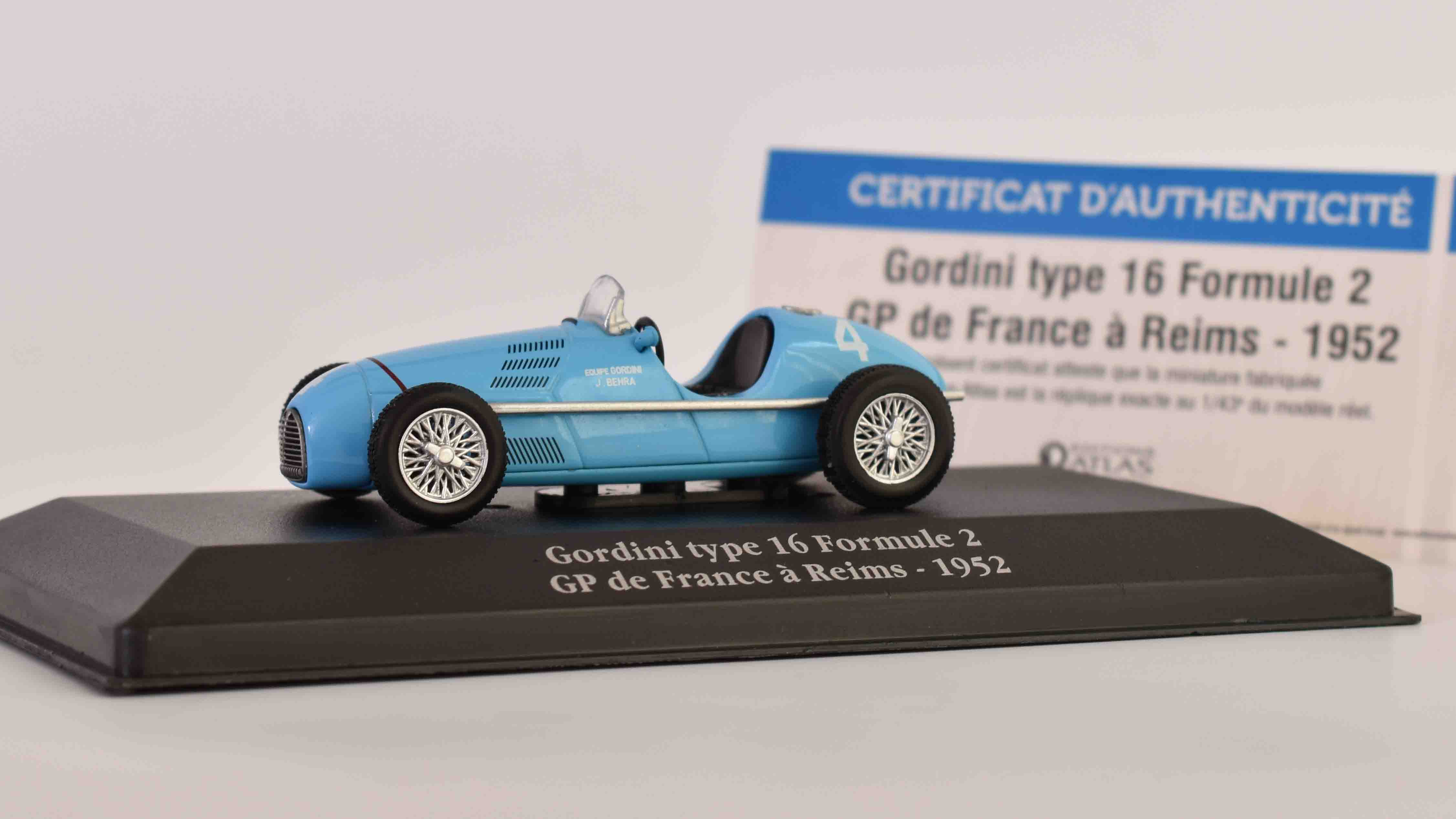 Renault F1 Type T16 Gordini N4 Reims France GP 1:43 - Atlas časopis s modelem