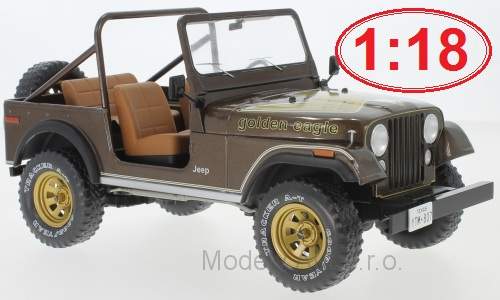 Jeep CJ-7 Golden Eagle - 1980 1:18 - MCG časopis s modelem