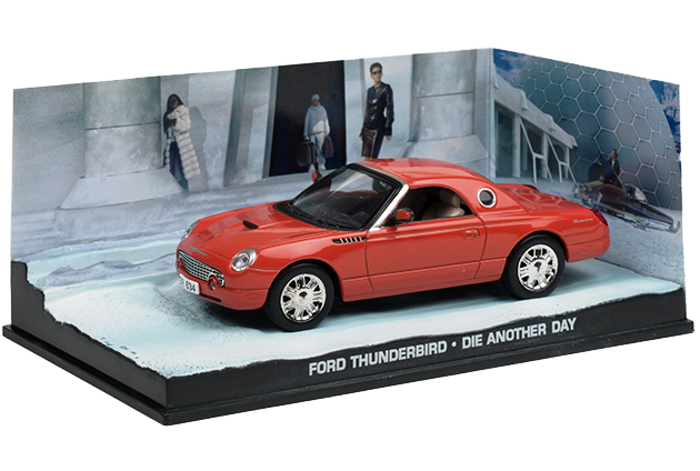 Ford Thunderbird 1999 James Bond 1:43 časopis AutoModels s modelem