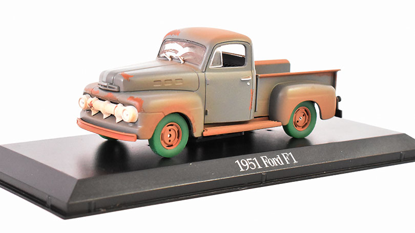 Ford f-1 pick-up Forrest gump 1951 - 1972 1:43 GreenLight časopis s modelem