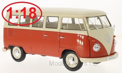 VW T1 Bus - 1963 1:18 - Welly časopis s modelem