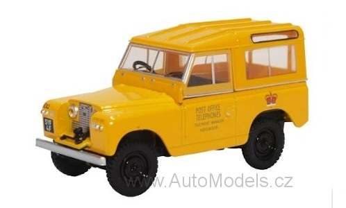 Land Rover Series II SWB Hard Top Post Office 1:43 - Oxford časopis s modelem