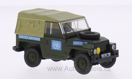 Land Rover 1/2 Ton Lightweight United Nations 1973 1:43 časopis s modelem