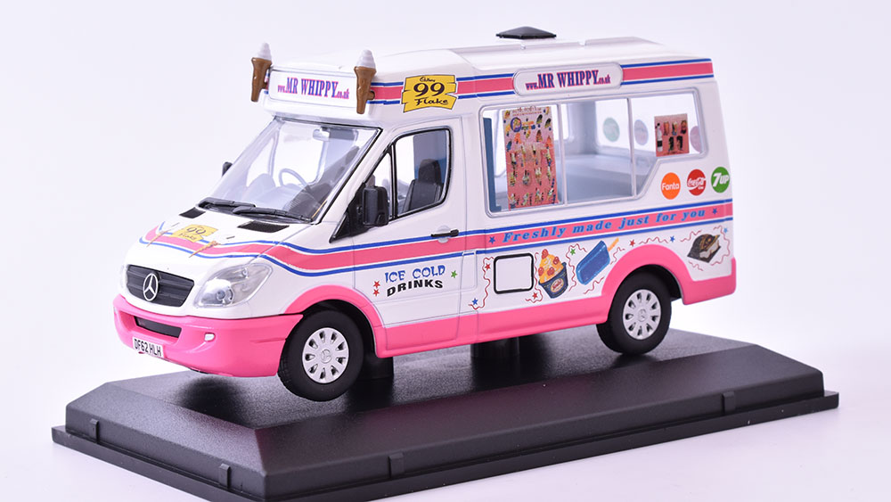 Mercedes Sprinter Van Ice Cream 1:43 OXFORD časopis s modelem