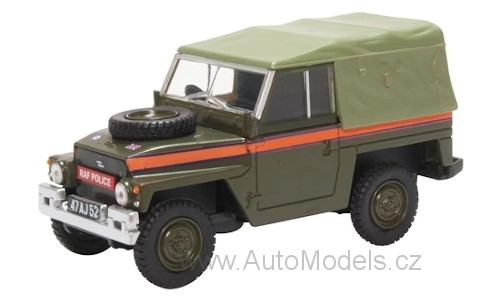 Land Rover Lightweight Soft Top RHD RAF Police 1:43 - Oxford časopis s modelem