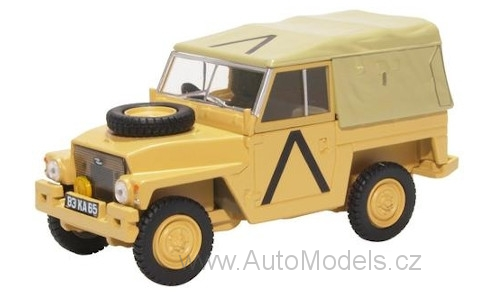 Land Rover Lightweight Soft Top RHD Gulf War 1:43 - Oxford časopis s modelem