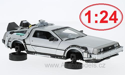 DeLorean Back to the future II Flying Wheel Version 1:24 časopis s modelem