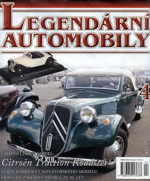 04 - Citroen Traction Roadster - Časopis Legendární automobily - bez modelu
