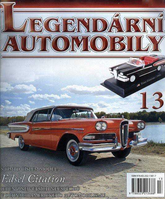 13 - Edsel Citation - Časopis Legendární automobily - bez modelu