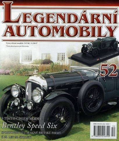 52 - Bentley Speed Six - Časopis Legendární automobily - bez modelu