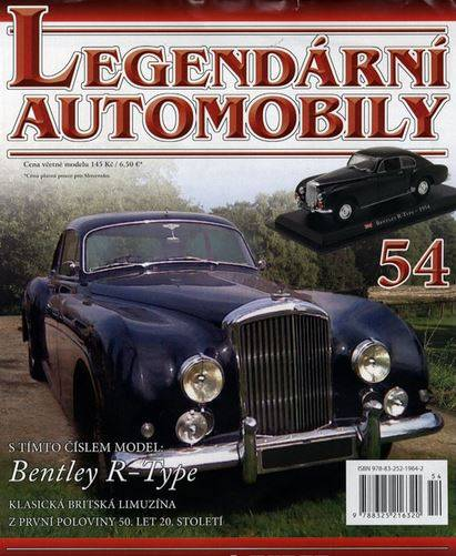 54 - Bentley R-Type - Časopis Legendární automobily - bez modelu