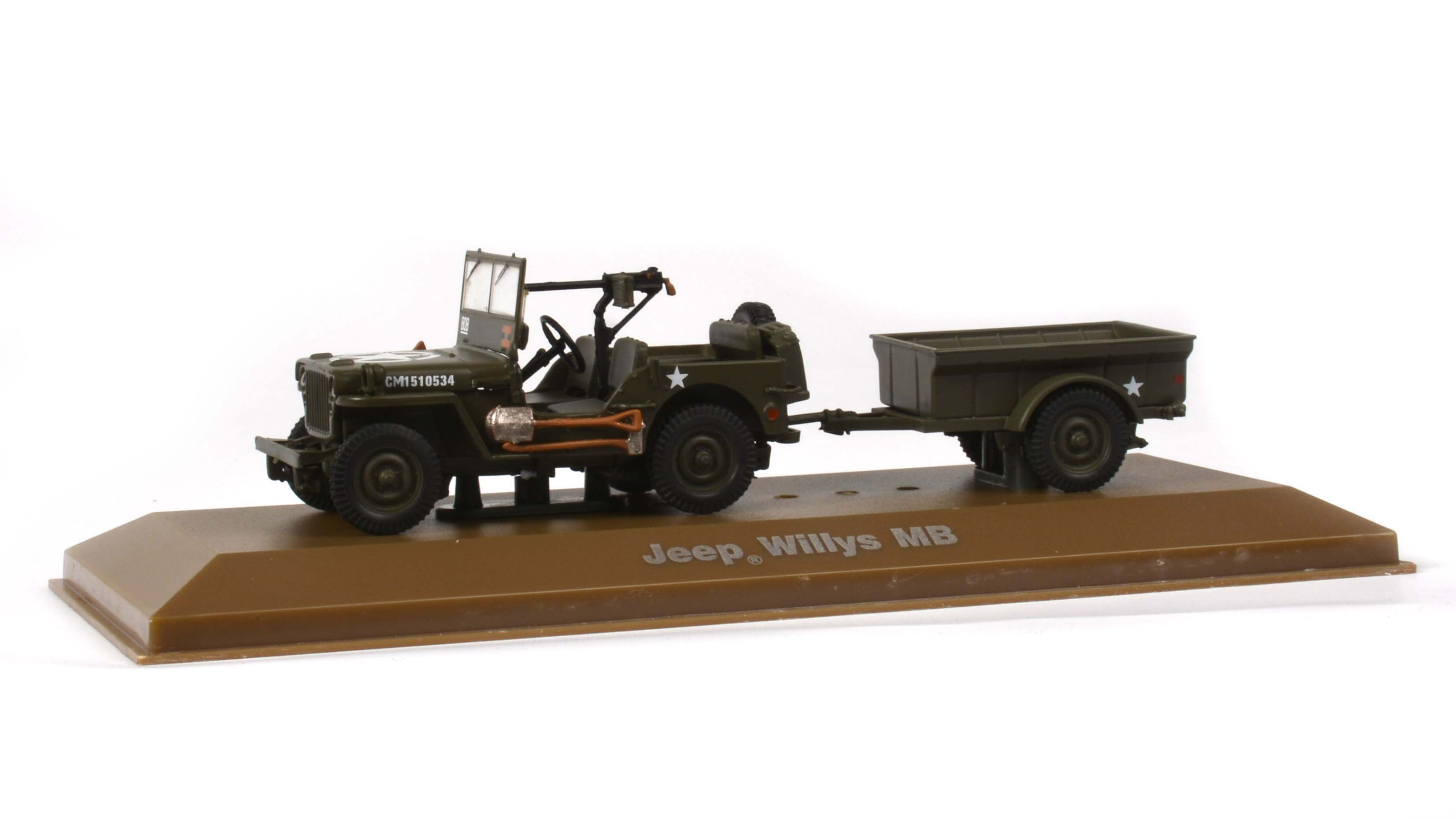 Jeep Willys MB 1:43 - Atlas časopis s modelem