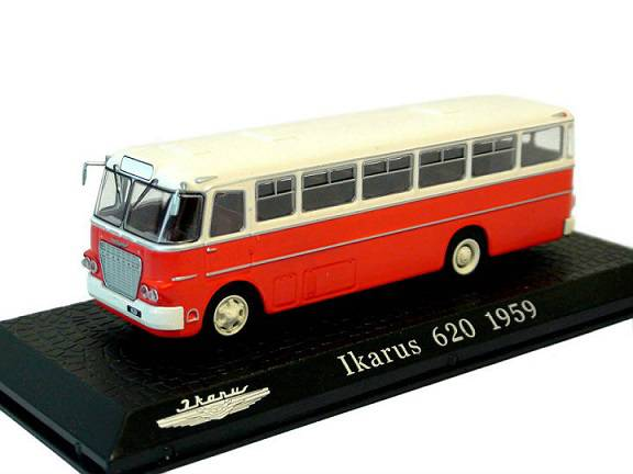 Ikarus 620 1959 autobus časopis s modelem - Ikarus Collection 1/72