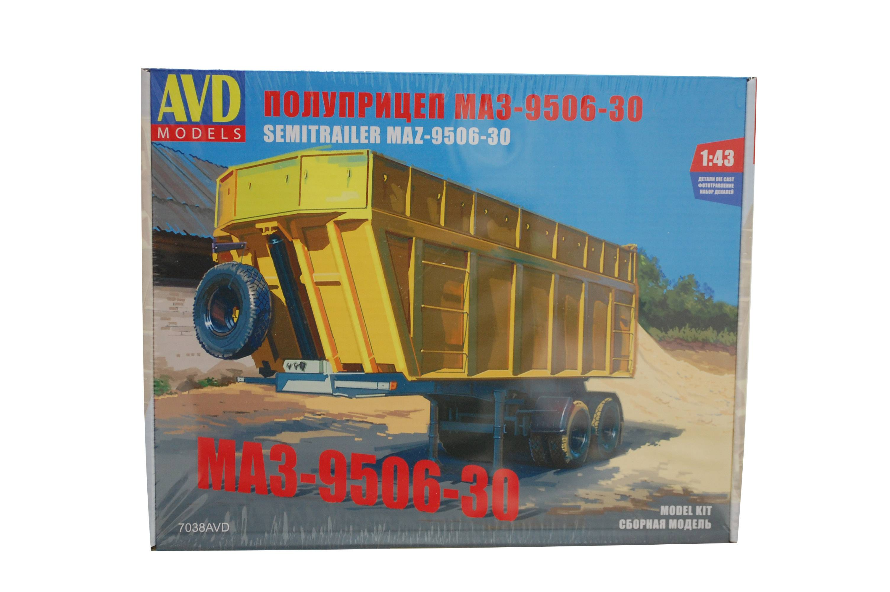 Návěs MAZ-9506-30  - model AVD KIT 1:43