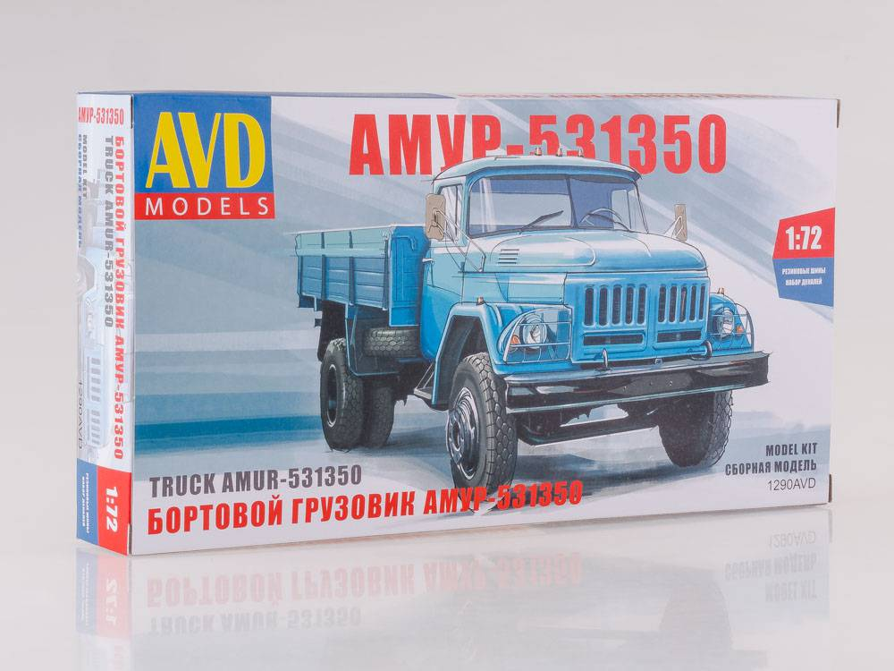 Zil-130 AMUR-531350 1:72 - časopis AutoModels se stavebnice model AVD KIT