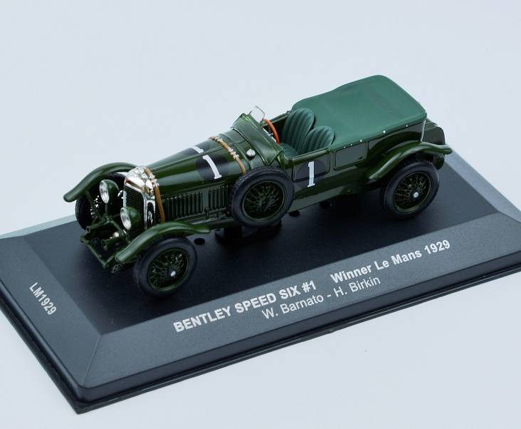 BENTLEY SPEED SIX #1 Winner Le Mans - 1929 časopis s modelem - IXO Models 1/43