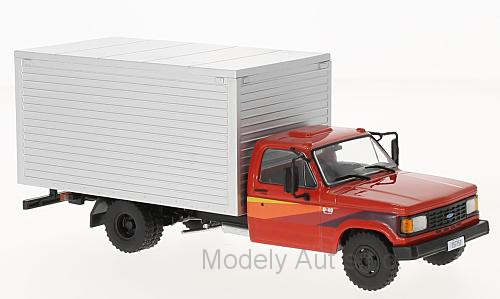 Chevrolet D-40 Box Truck - 1985 časopis s modelem - WhiteBox