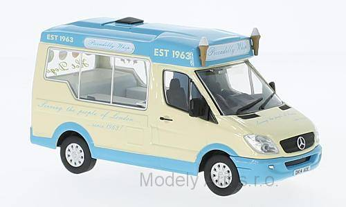 Mercedes Sprinter Whitby Mondial, Ice Cream 1:43 OXFORD časopis s modelem
