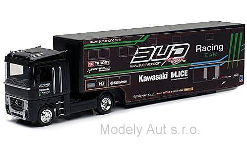 Renault Magnum AE500, Bud Racing Team Truck 1:43 - New Ray časopis s modelem