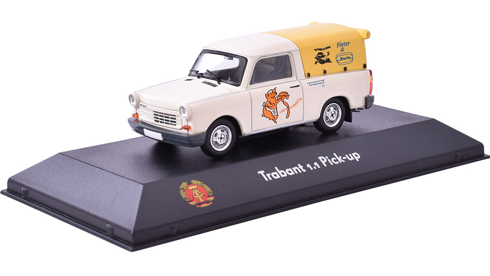 Trabant 1.1 Pick-up 1:43 - Atlas  časopis s modelem