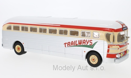 GMC PD-3751 Trailways - 1955 1:43 - IXO časopis s modelem