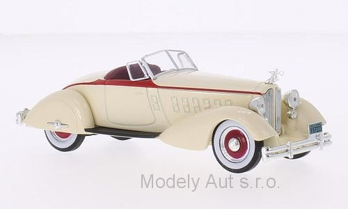 Packard V12 Le Baron Speedster - 1934 1:43 Whitebox časopis s modelem