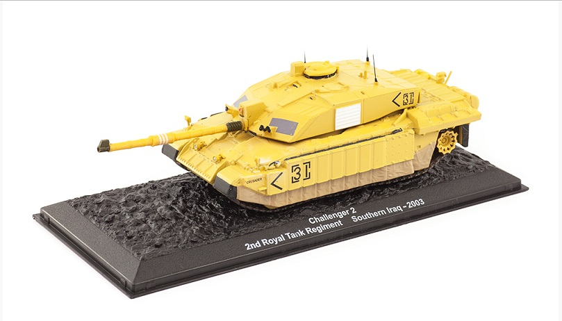 Challenger 2 2nd Royal Tank Regiment Iraq 2003 1:72 - Altaya časopis s modelem