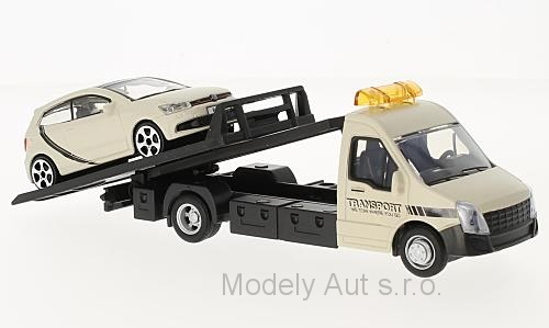 Iveco Daily Transporter + VW Polo V GTI 1:43 - New Ray časopis s modelem