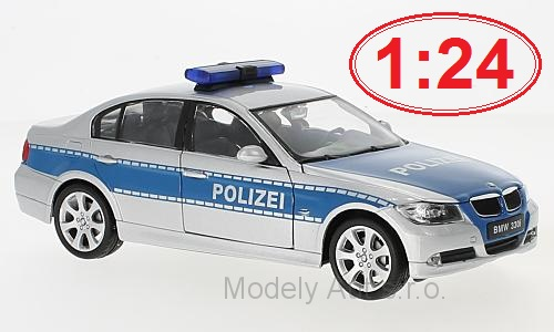 BMW 330i Polizei 1:24 - Welly časopis s modelem