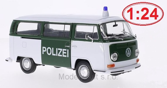 VW T2 Bus Polizei - 1972 1:24 - Welly časopis s modelem