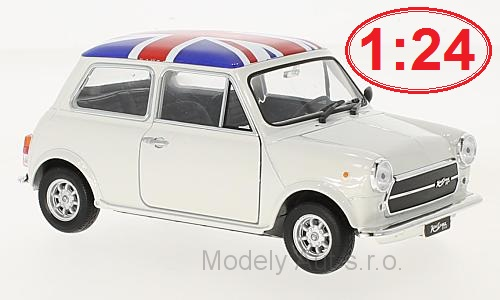 Mini Cooper 1300 UK Flag 1:24 - Welly časopis s modelem